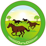 Horse breeding Label