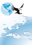 Eagle with globe