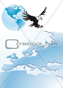 Eagle with globe
