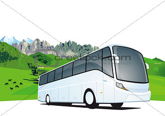 Bus travel in the mountains