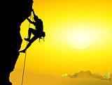 Climber on a rock face