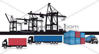 Loading containers at the port