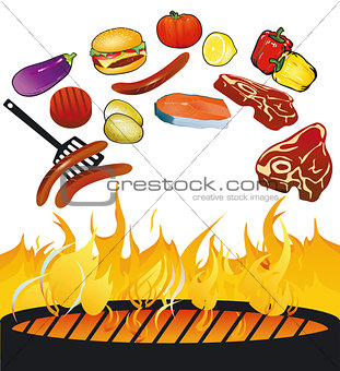 BBQ with food