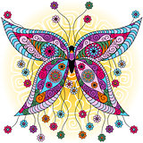 Fantasy spring vintage butterfly