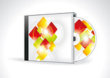 CD Cover Design with 3D Presentation Template
