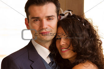 Happy young couple after wedding