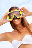 Woman with goggles
