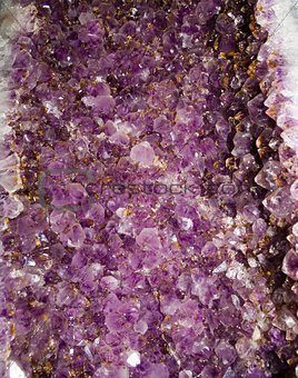 Purple Amethyst Cluster Background Pattern