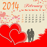 Calendar for 2014 February