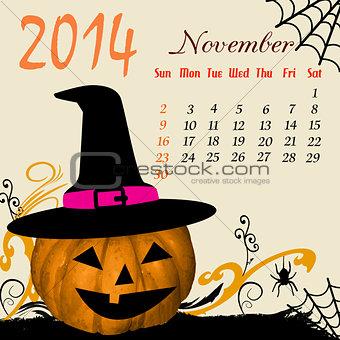 Calendar for 2014 November