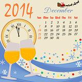 Calendar for 2014 December