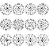 Car  alloy wheels, vector illustration