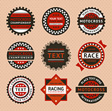 Racing labels - vintage style