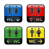 Restroom - colored stickers