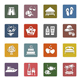 Tourism, Recreation & Vacation, icons set