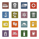 Travel, Vacation &amp; Recreation, icons set