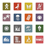 Vacation, Travel &amp; Recreation, icons set