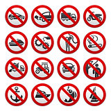 Prohibited symbols