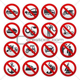 Prohibited symbols
