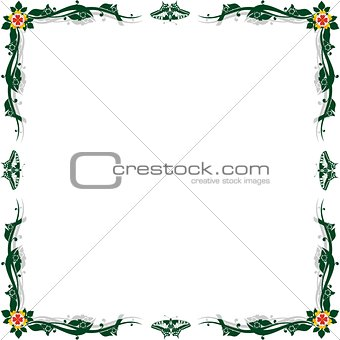 Abstract floral frame-1
