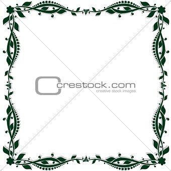 Abstract floral frame-2