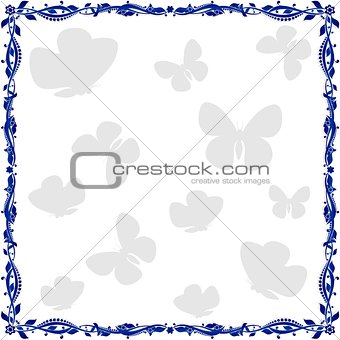 Abstract floral frame-3