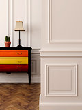 Bright dresser in the interior