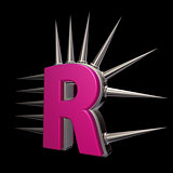 prickles letter r