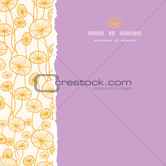 abstract Yellow Plants Square Torn Seamless Pattern Background