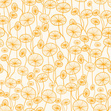 Abstract Yellow Plants Seamless Pattern Background