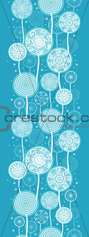 Abstract Dandelion Plants Vertical Seamless Pattern Background