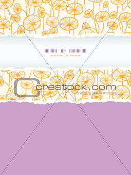 abstract Yellow Plants Vertical Torn Frame Seamless Pattern Background