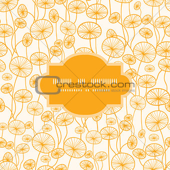 abstract Yellow Plants Frame Seamless Pattern Background
