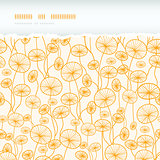 abstract Yellow Plants Horizontal Torn Seamless Pattern Background