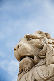 Stone Lion Under Sky