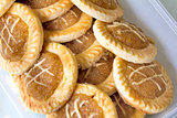 Pineapple Tart in Container Closeup