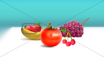 Fruits White Table