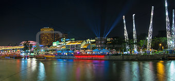 Nightlife at Clarke Quay Singapore