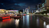 Nightlife at Clarke Quay Singapore River
