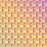 Abstract seamless geometric cubic background