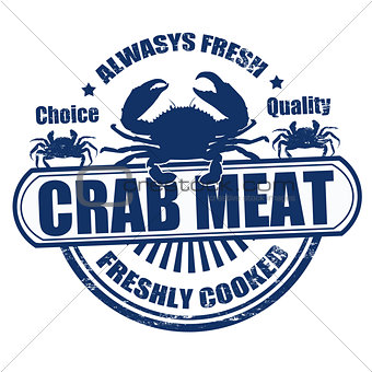 Crab meat stamp