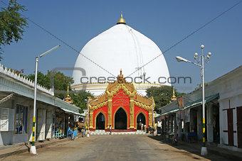 Kaunghmudaw Pagoda, Sagain, Myanmar, Asia