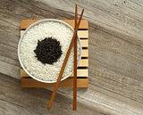 two varieties of dry rice