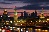 Moscow, Russia, night view on Kremlin