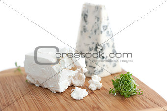 Blue cheese and feta