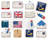 Envelopes and stamps