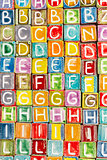 Handmade ceramic alphabet background