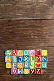 Handmade ceramic alphabet 