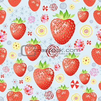 texture of a delicious strawberry