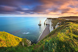 Sunrise over Etretat